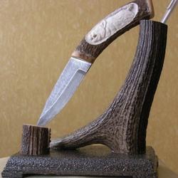 Нож из дамасской стали в подарок